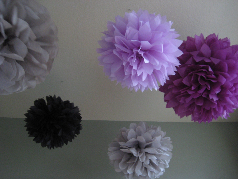 Twilight 5 Tissue Paper Pom Poms DIY Decor Kit by ...