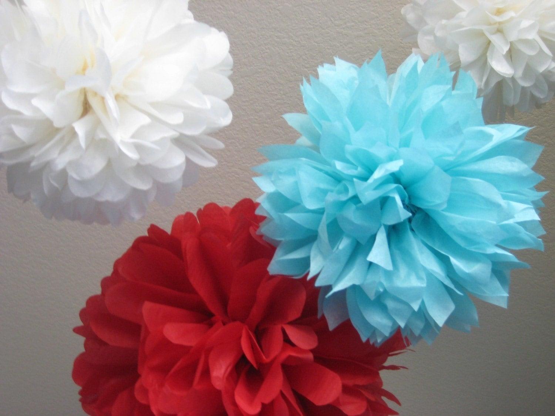 10 tissue paper pom poms decoration diy by prosttothehost