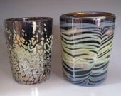 Set of 2 Hand Blown Drinking Glass Tumblers
