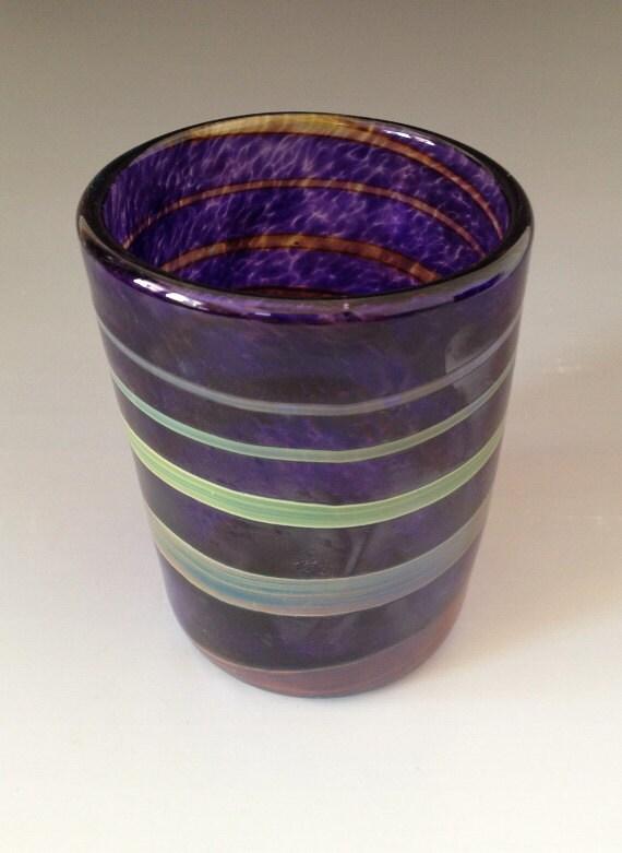 Handmade blown glass tumbler