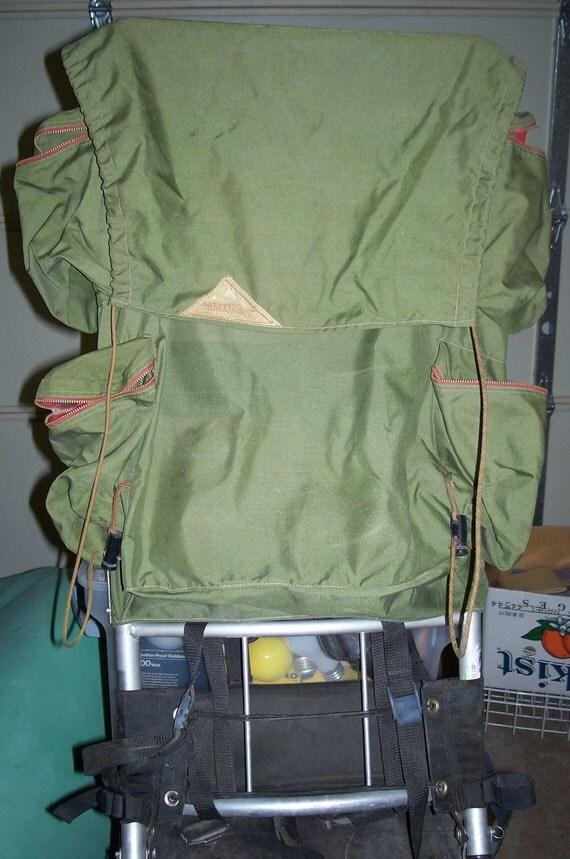 Vintage Kelty External Frame Backpack Hiking Back Pack Green