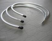 Matchstick Cuff Bracelets - Sterling Silver - Set of 3