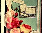 Stamped & Embellished Floral Journal