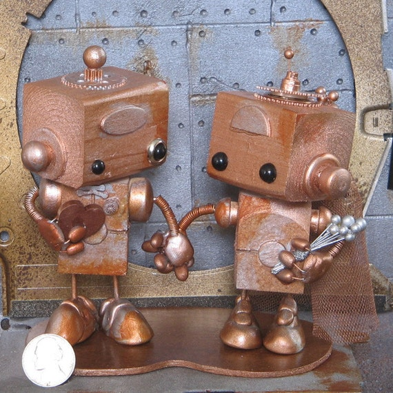 Steampunk Robots Cake Topper 08