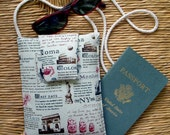 Travel Journal Small Shoulder or Neck Purse