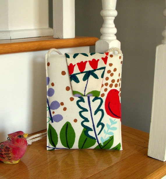SALE Small Purse with Alexander Henry Happy Fabric