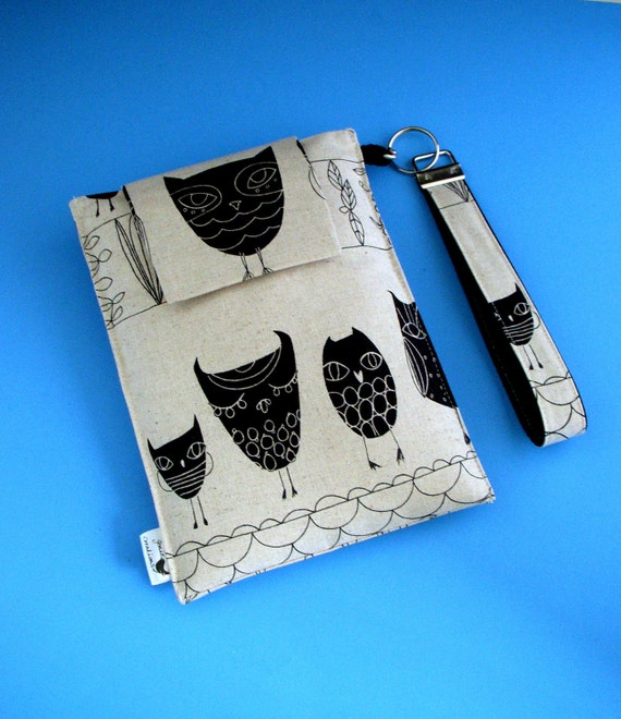 Nook, Kindle, Blackberry Playbook, Sony, Kobo, Galaxy Tab Fabric Case With Removable Key FOB Wristlet