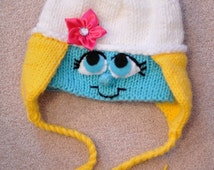 PATTERN-Blue is Beautiful Earflap Hat for Size 3-5 and Adult