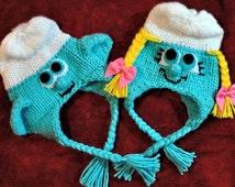 Knitting PATTERN - Newborn Lovable Character Hat