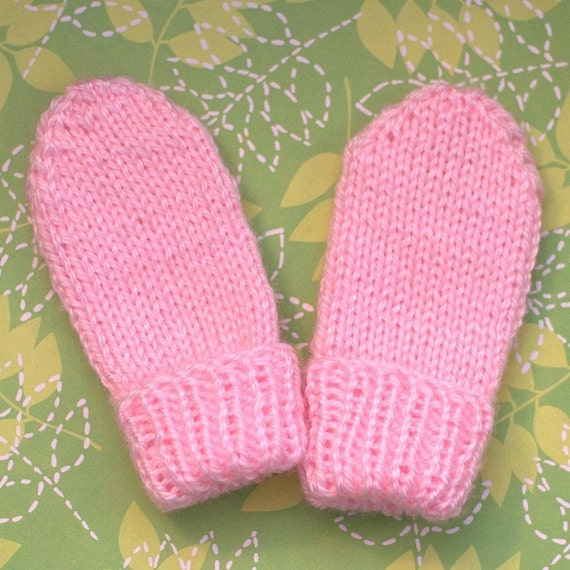 Knitting Pattern For Baby Mittens Without Thumb : Seamless Thumbless Infant Mitten Knitting PATTERN by Route45
