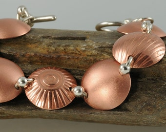 Mixed Metal Bracelet for Small Wrist Copper and Silver