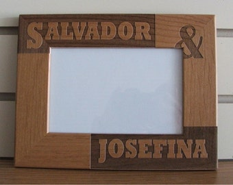 laser engraved picture frame