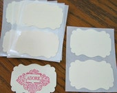 Ivory Sticker Label Cardstock Custom