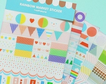 Cute Stickers Planner Colorful Kawaii