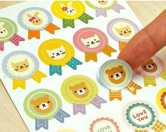 Cute Rabbit Sticker Seals Party Bear