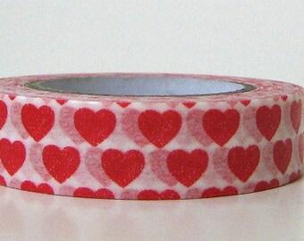 Heart Tape Washi Paper Love