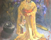 Kimono Doll  14x18 oil on stretched canvas