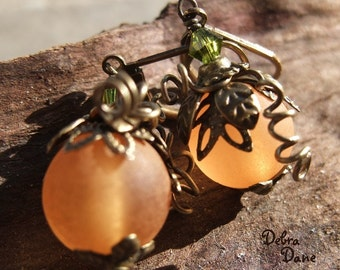 Pumpkin Earrings Orange Vintage Style Fall Fashion Fall Accessory
