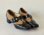 1960's butterscotch suede oxford pumps size 8