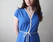 vintage 1970's nautical cobalt day dress