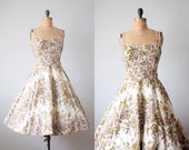 vintage 1950's spring garden party dress