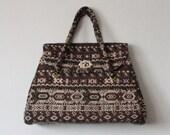 1960's folk print handbag