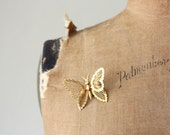 vintage 1970's golden moth brooch
