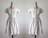 1950s dress - vintage 1950's midcentury day dress