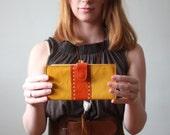 mustard wallet - vintage spectator wallet