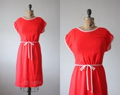 1970s red day dress