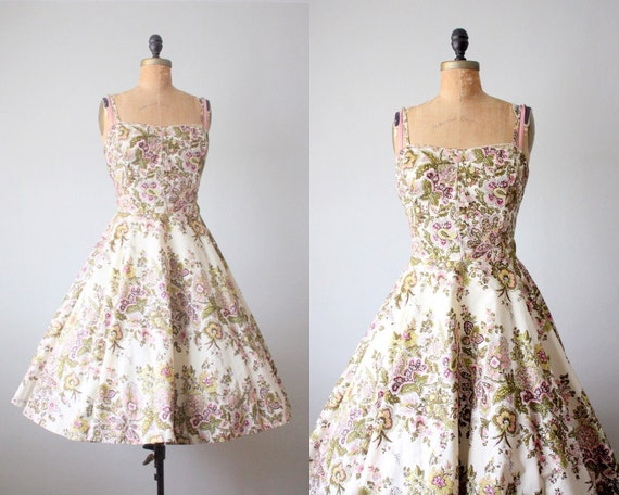 Vintage 1950 s spring garden party dress by 1919vintage on etsy