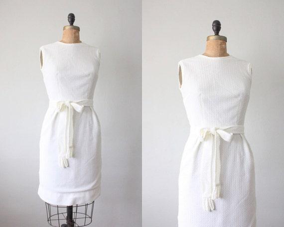 1960's dress - winter white party dress