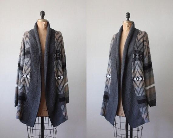 vintage slouchy geometric cardigan