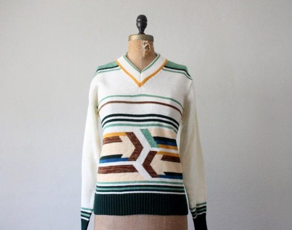 vintage 1970's arrow print sweater