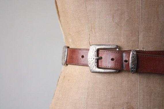 vintage southwestern leather belt