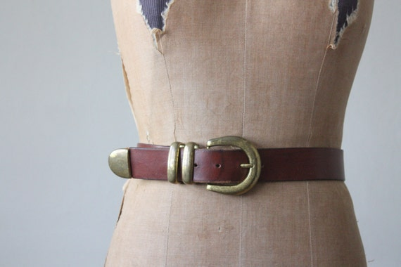 vintage classic leather belt