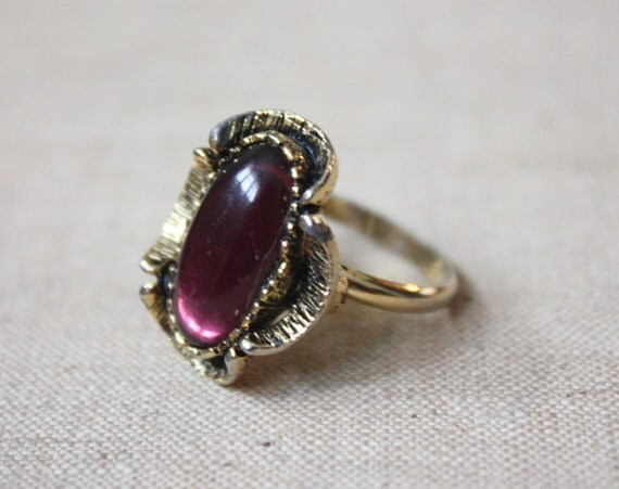 amethyst bloom cocktail ring