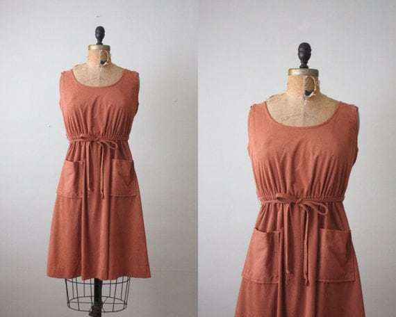 1970s dress - mahogany day dress