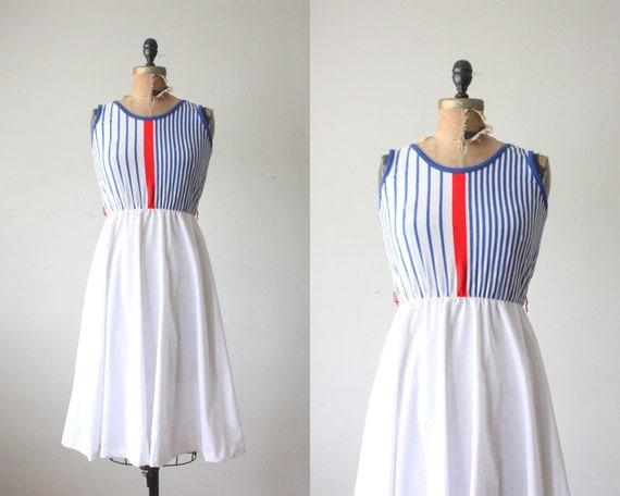 1970s dress - nautical day dress