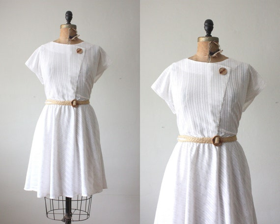 1970's dress - white day dress