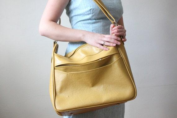 mustard messenger bag