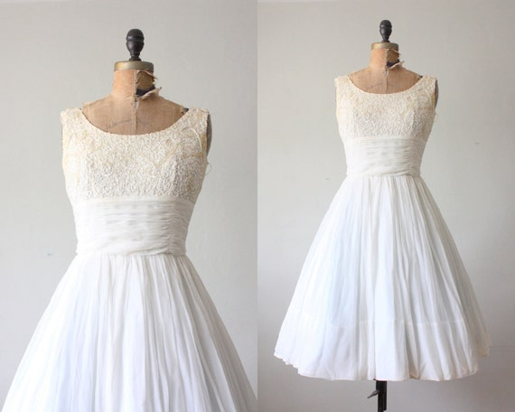 wedding dress - 1950s wedding dress