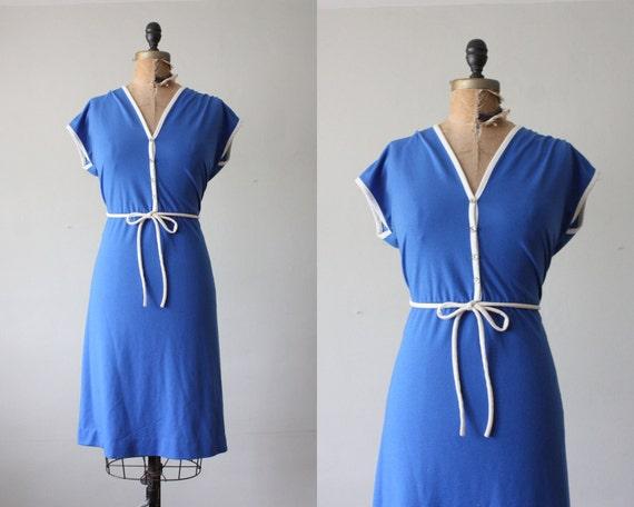 vintage 1970's dress - nautical day dress