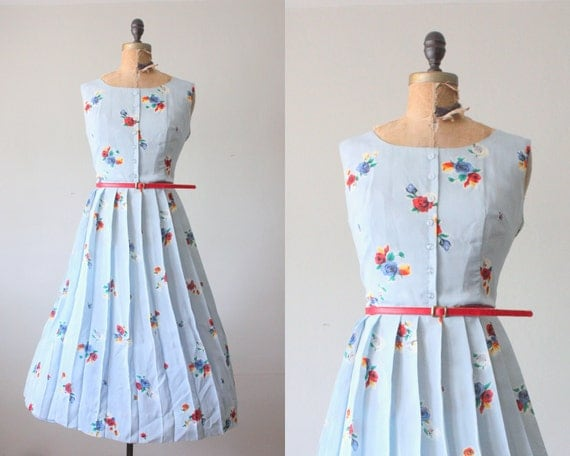 RESERVED. 1960s dress - floral party dress