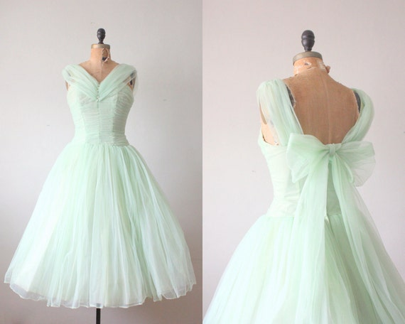1950s dress - mint green princess dress