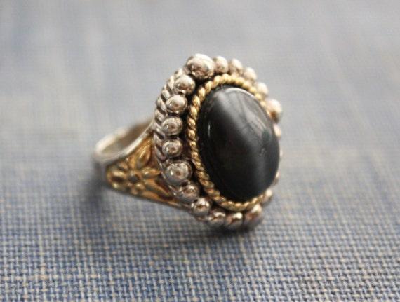 onyx deco ring