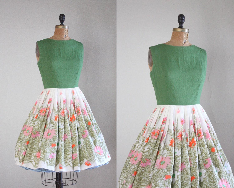 Exceptional 1950s Dress Vintage 1950s Garden Party Dress