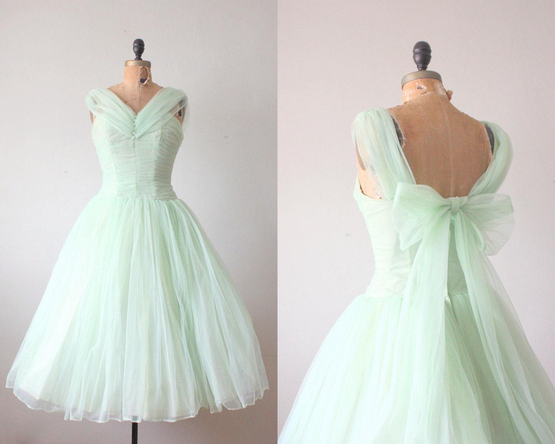 1950s Dress Mint Green Princess Dress