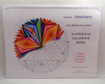Sanctuary Mandala Coloring Book