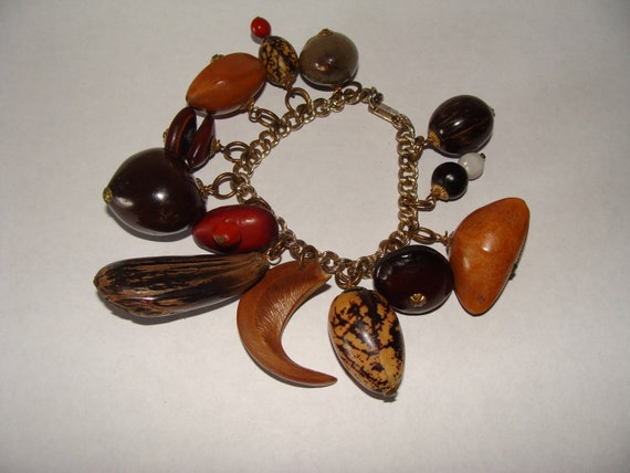 Vintage Cha Cha Bracelet South Pacific Nuts and Seeds